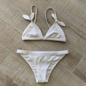 White Bikini with Ties Size Medium